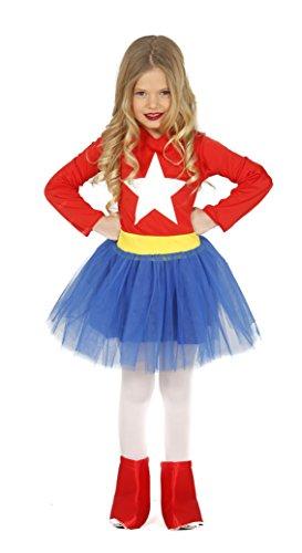 3 Superman Kostüm 2 Jahre - GuircaKostüm Supergirl, Größe 3-4Jahre, Rot (83212)