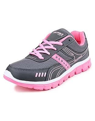 Columbus L-7003 Mesh Sports shoes, Walking shoes, Outdoor Multisports shoes for Women (7 UK, DGreyPink)
