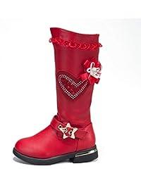 694473f77 Niñas Botas de Nieve de Invierno con Cremallera Moda para niños Botas de  Nieve Rojas y