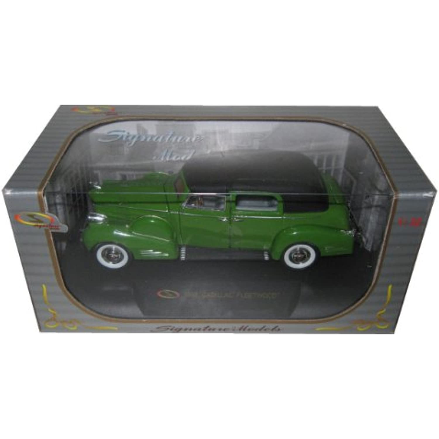 1938 Cadillac Series 90 V16 V16 V16 Fleetwood Green 1/32 by Signature Models 32340 4a0cba