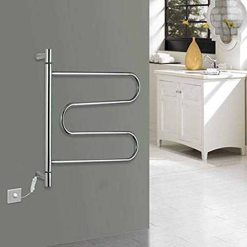 CGGDP 304 Edelstahl Wand montiert Handtuch wärmer, elektrische Handtuchhalter niedrige Kohlenstoff Energieeinsparung Intelligente konstante TemperaturHeizung, 600 * 580 * 112mm,Openline - Elektrische Wand-handtuch-wärmer