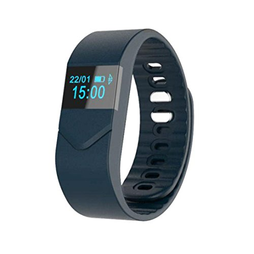 hunpta M5 Blutdruck Blut Sauerstoff Herzfrequenz Fitness Gesundheit Sport Armband (Navy)