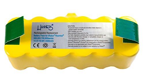 HANNETS® - BATTERIE POUR IROBOT ROOMBA 500 - 4500 MAH - NIMH 14 4V