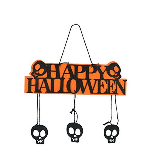 Upxiang Fröhliches Halloween! Halloween-hängende Dekoration, Halloween-Kürbis-Fahne, Girlande-Geist-hängende Dekoration, Partei-Garten-Ausgangsdekor (Schwarz) (Halloweeen Dekorationen)
