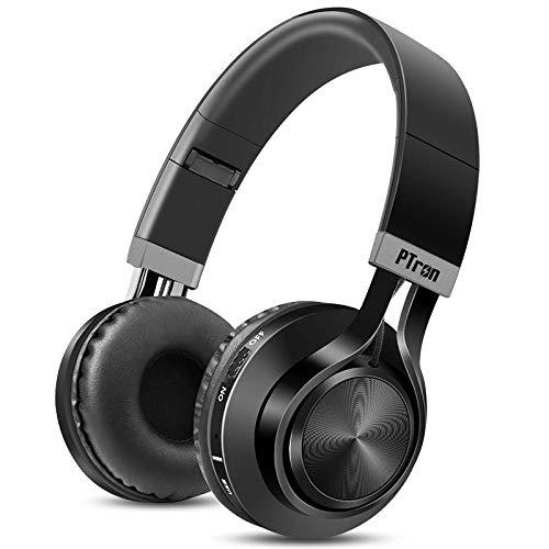 PTron Kicks Wireless Bluetooth, Wired Headphones (Black, On Ear)