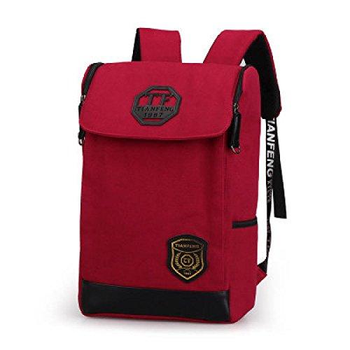 BULAGE Jungen Und Mädchen Schultern Männer Und Frauen Schulranzen College Wind Quadratischen Rucksack Reisen Laptop Tasche Red