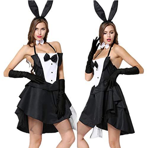 Abbigliamento Erotico Donna Sexy Halloween Costume Adulto per Adulti Coniglietta Costumi di Coniglio Donne Cosplay Fancy Dress Clubwear Party Wear Prodotti Sexy Set @ One_Size