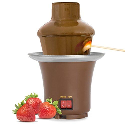Oramics Schokobrunnen – Schokoladen Kaskade für 800 ml Schokolade – Schokoladenfontäne für Früchte, Kekse, Nüsse und Marshmallows – Geeignet auch für Butterscotch