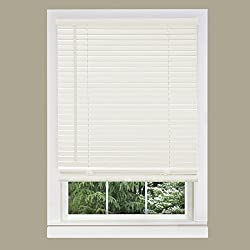 Achim Home Furnishings 1-Inch Wide Window Blinds, 36 by 64-Inch, White