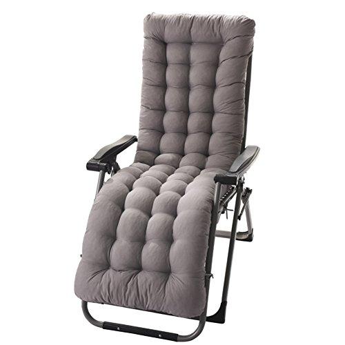 Chaise Lounge Kissen Mit Krawatten, Gesteppter Futon Rocking Stuhl Seat dämpfung Für die terrasse Garten Indoor Outdoor Sonnenliege matratze-grau 155x48cm(61x19inch) - Lounge Für Terrasse Chaise Die
