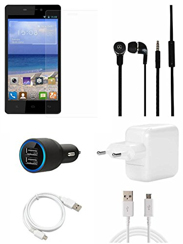 CELLMATE Tempered Glass Screen Guard Screen Protector, Charger,Headphone,Car Charger, USB Cable Combo for Gionee M3  available at amazon for Rs.599
