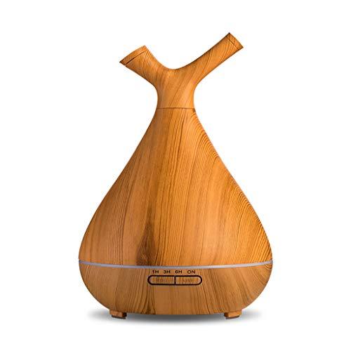 Diffuseur créatif maison chambre aromathérapie poêle salon de beauté bouchon arôme humidificateur 400ml créatif huile essentielle diffuseur lampe de parfum (Color : Wood color, Size : 53 * 36 * 47cm)