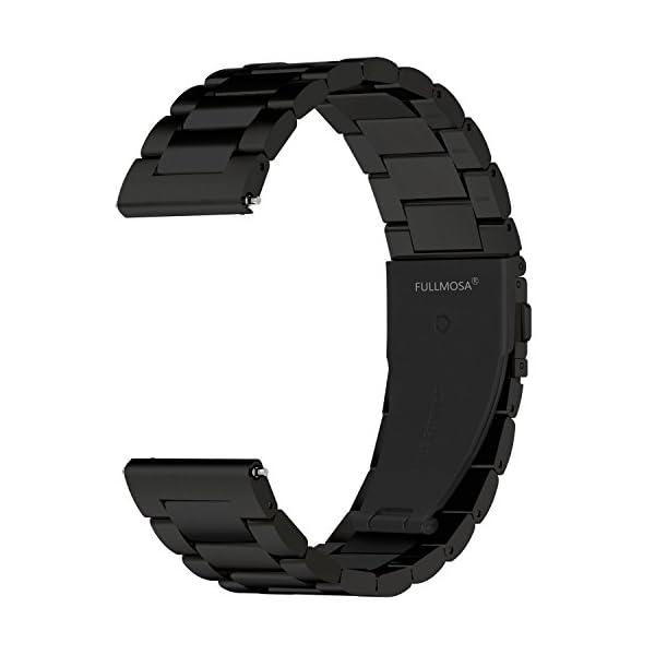 Fullmosa 4 Colores para Correa Metálica de Reloj de Liberación Rápida, Pulsera Reloj de Acero Inoxidable 14mm 16mm 18mm… 3