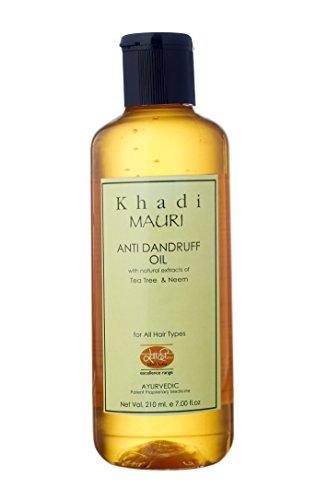 KHADI Anti Dandruff Oil - Dry & Damaged Hair Repair - 210 ml - Enriched with Teat Tree & Neem