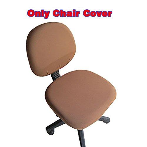 fittoway Elastischer Universal-Computerschreibtischstuhl-Bezug, drehbar, einfarbiger Stuhl-Bezug braun (Deck Einfarbiges)