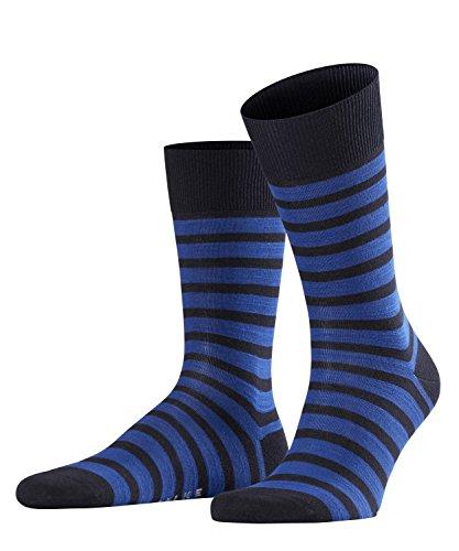 FALKE Herren Füßlinge Even Stripe, Mehrfarbig (Dark Navy 6375), 39 -