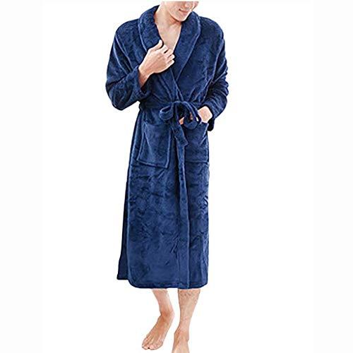 serliyWinter Starke warme Frauen Männer Roben Cotton Nachtwäsche Lange Robe Spa Plüsch Lange Bademantel Nightgown Kimono Startseite Kleidung