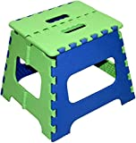 #9: Folding Step Stool - 10 inch Height Premium Heavy Duty Foldable Stool for Kids & Adults, Kitchen Garden Bathroom Stepping Stool