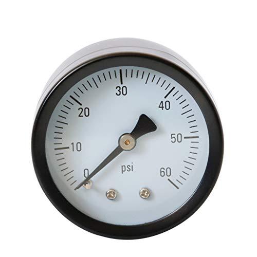 yuaierchen 5,1 cm Zifferblatt Manometer Rückmontage für Pool Spa Filter Ersatz 60 PSI 1/4 Zoll NPT -