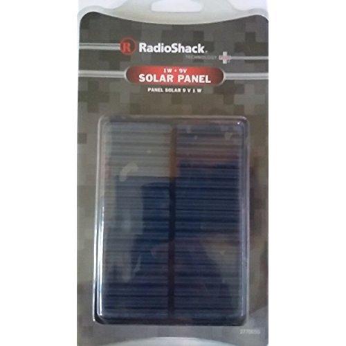Radioshack-1W vatios Panel Solar 9V 4.33'x 3.15' x 0.125'con 20cm Cable de Salida 2770050DIY para Mini Panel Solar módulo de energía Solar Sistema Solar Cargador de batería de celda