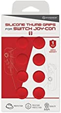Hyperkin Silicone Thumb Grips for Nintendo Switch Joy-Con (Neo Red, Pack of 8)