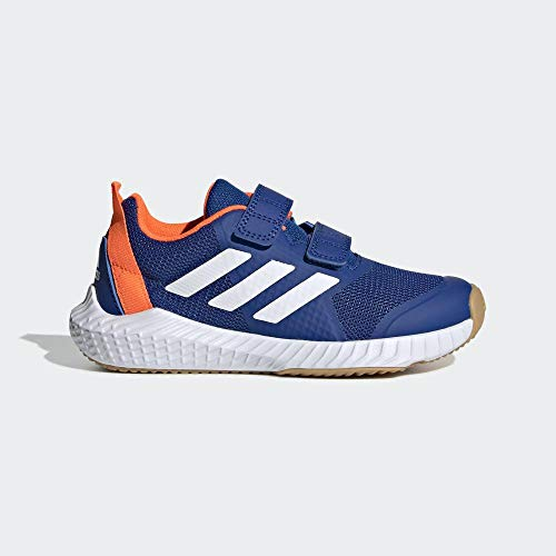adidas Unisex-Child Fortagym Cf K Indoor Court Shoe, Collegiate Royal/Cloud White/Solar Orange, 30 EU