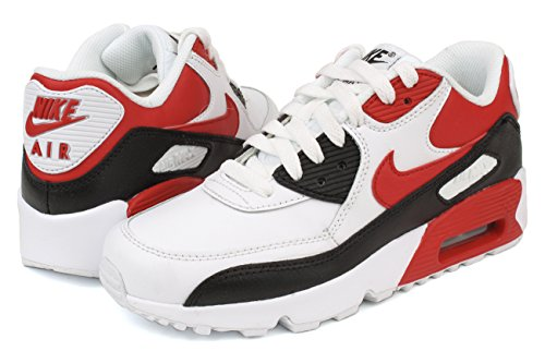 Nike Air Max 90 Junior Hyper Punch Noir White/University Red-balck-wolf Grey