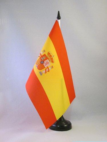 BANDERA de MESA de ESPAÑA 21x14cm - BANDERINA de DESPACHO ESPAÑOLA 14 x 21 cm - AZ FLAG
