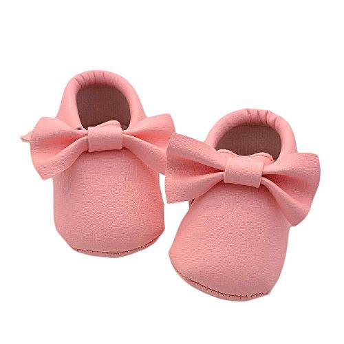 Hunpta Neue jungen Lauflernschuhe Baby Mädchen Bowknot Quasten Schuhe Kleinkind weiche Sohle Turnschuhe Freizeitschuhe (12, Rosa) Rosa