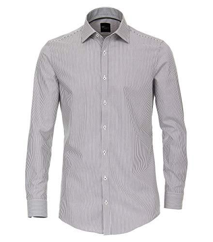 Venti Herren Businesshemd Hemd Body Fit, (Grau 750), 40