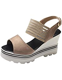 SANFASHION Bekleidung SANFASHION Damen Schuhe 144155, Sandali Donna Multicolore Multicolore, Bianco (Bianco), 39 EU