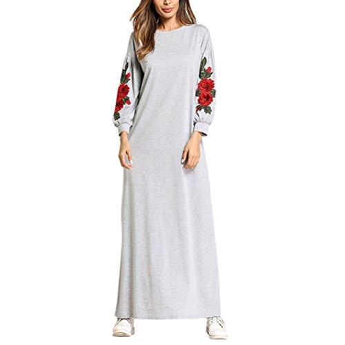 Zhuhaitf Kaftan Tunika Kimono Kleid Damen Abendkleid Maxikleid Partykleid Abaya Islamische Kleidung...