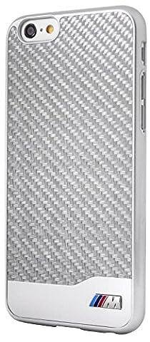 BMW M Collection Coque en carbone/aluminium pour iPhone 6 Plus/6S Plus Argent