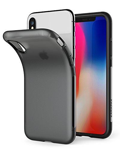 Anker iPhone X/XS Hülle [Unterstützt kabelloses Laden (Qi)] KARAPAX Touch Dünne Matte Handyhülle für das iPhone X/XS Edition (Schwarz)