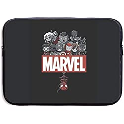 Greatbe Marvel Hero 1 Ultrabook Resistente al Agua Funda con Funda Tipo maletín Funda para portátil 13/15 Pulgadas para MacBook Pro/MacBook Air/Surface Book/Surface Laptop