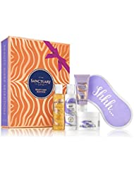 Sanctuary Spa Gift Set, Beauty Sleep Selection Box with Face Mask, Shower Gel, Bubble Bath, Body Butter and Sleep Eye Mask, Christmas Gifts for Her, Pamper Gift for Women