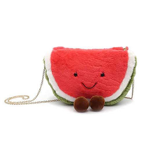 KUNCC Cartoon Warme Handtasche Wassermelone Red Hot Water Flasche Verbringen EIN Warmes Weihnachten Mit Ihnen