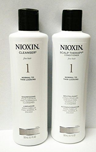 Nioxin Cleanser & Scalp Therapy System 1 - Shampoo & Conditioner Duo/Twin Pack 300ml