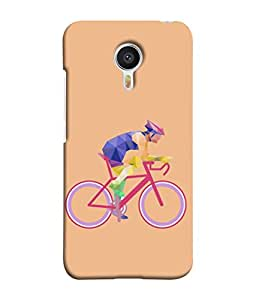 Meizu M3 Note, Meizu Note 3 Back Cover Cyclist Illustration Design From FUSON