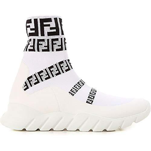 FENDI ROMA ,  Herren Hohe Sneaker, Weiß - Weiss SCHWARZ - Größe: 42 EU (Fendi-schuhe Für Herren)