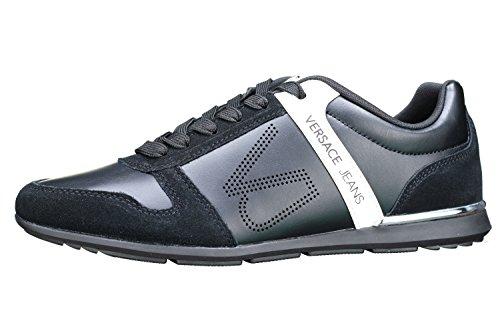 Versace Jeans Linea Fondo Tommy DIS 7 70010 Coated VJ Holed Suede E0YRBSB770010899, Turnschuhe - 42 EU