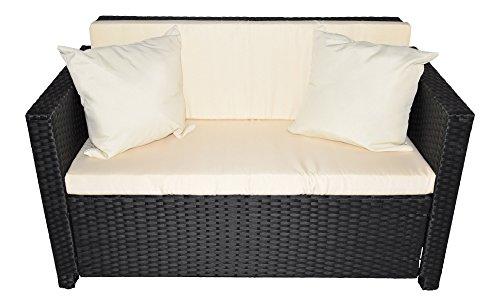 Gartenmoebel Cannes Rattan Lounge Möbel black Polyrattan Gartenausstattung von Jet-Line -