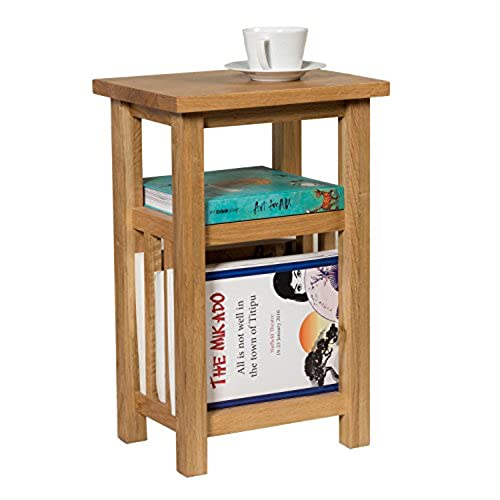 Oak side tables for living room amazon waverly oak magazine side table in light oak finish solid wooden coffee lamp end storage paper rack aloadofball Images