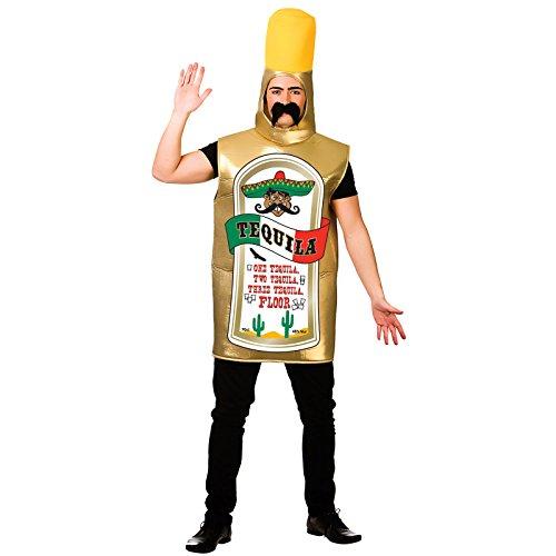 Carry Me-Kostüm Tequila-Flasche für Erwachsene, Einheitsgröße, - Tequila Kostüm