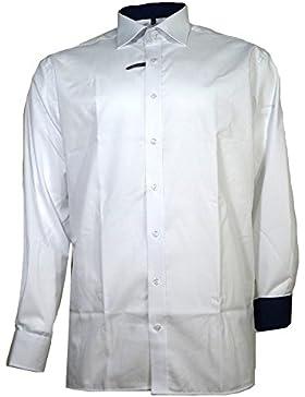 Eterna Herrenhemd Langarm Baumwoll Hemd Baumwollhemd Herren Business Modern Fit Weiß