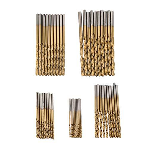 ca431da0597c 50 Pcs hot -sale HSS Twist Drill Twist Drill Bits Tool Set Metric System  drill bit woodworking punte trapano - Yellow&Sliver