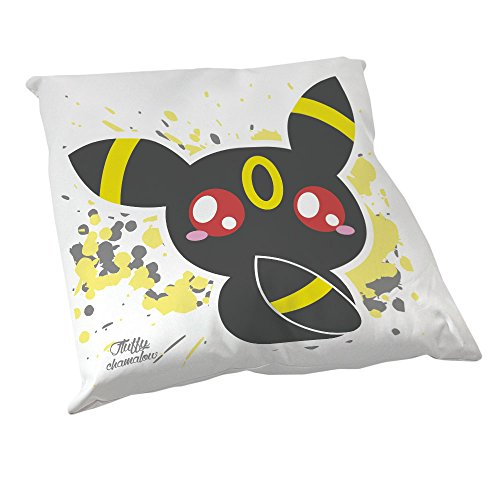 Coussin Décoration Pokemon Noctali / Umbreon Chibi et Kawaii by Fluffy chamalow - Fabriqué en France - Chamalow Shop