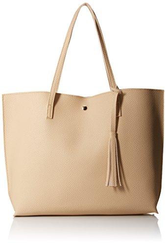 OCT17 Damen Einkaufstasche - Quasten Kunstleder Schulter handtaschen, modehandtaschen Satchel Messenger Bags einheitsgröße braun (Kalk Für Erwachsene Kostüm)