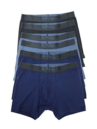 Buffalo Boxershorts 6er Pack - Blau - Medium -