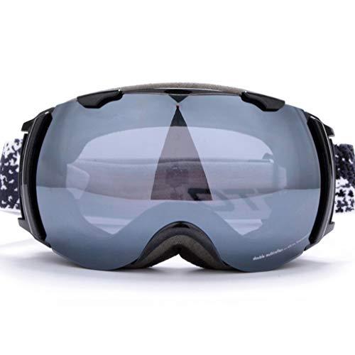 Kinder Ski Brille Doppelschicht-Objektiv Anti-Fog und Winddicht Outdoor-Berg Schneefallspiegel (Farbe : C)